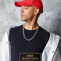 嘻哈潮人男士项链hiphop街头潮银色韩版简约链子学生个性欧美百搭