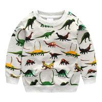 童装男童卫衣2018秋新款韩版打底衫儿童圆领套头恐龙满印长袖T恤