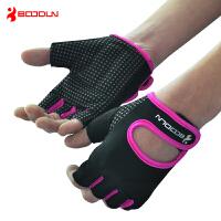 运动手套男女硅胶防滑透气锻练哑铃单杠举重动感单车瑜伽健身手套