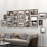 照片墙相框墙客厅实木装饰挂墙墙面创意组合公司免打孔相片背景墙