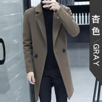 冬季毛呢外套男中长款羊毛呢子大衣新款韩版修身青年风衣英伦