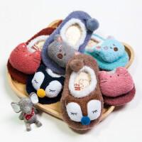 秋冬新款地板袜宝宝袜 立体卡通公仔儿童防滑地板袜羽毛纱婴童袜