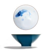 品茗杯 陶瓷景德镇色釉瓷个人杯斗笠单杯功夫茶具主人手绘小茶杯子