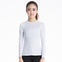 玉儿恋女子紧身衣训练长袖 运动跑步健身瑜伽服长袖上衣