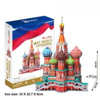 智力玩具俄罗斯建筑模型3d立体拼图