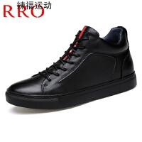马丁靴男靴春季高帮鞋时尚靴子男头层牛皮大小码男鞋