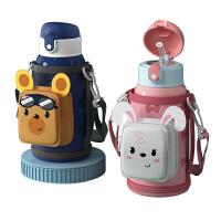 儿童保温杯带吸管男女两用小学生上学专用便携水壶幼儿园宝宝杯子