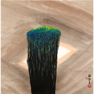 周韶华《绿植》著名画家