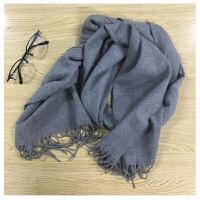 韩观冬季男士围脖男士围巾男女通用保暖围巾 WWJ灰色