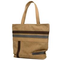 2016新款韩版潮包帆布包女简约撞色拼接大容量手提包单肩大包购物袋