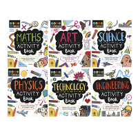 【首页抢券300-100】STEAM + Physics Starters For Kids STEM 入门活动书6册套