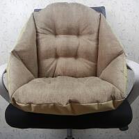 椅垫连体坐垫靠垫一体护腰靠背座垫办公室电脑椅子餐椅加厚软垫子j