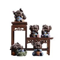 家居装饰品办公室书柜摆件 简约现代小公仔猪