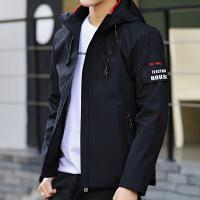 夹克男士连帽2018春季韩版修身青少年帅气潮流短款秋季外套