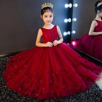 女童公主裙蓬蓬裙夏花童婚纱女长款 新款儿童礼服主持人演出服钢琴
