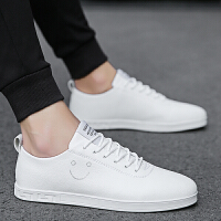 新款夏季韩版潮流男鞋百搭运动休闲板鞋男士小白青年白色潮鞋