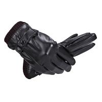 秋冬季中老年男士手套加厚保暖老人手套男冬天爸爸老年人皮质手套