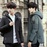冬季羽绒服男韩版轻薄短款青少年修身款加厚学生潮流帅气男士外套