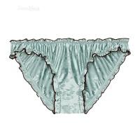 冬季性感内裤女低腰情趣三角裤女士印花内裤 蓝绿色【单条内裤】 S