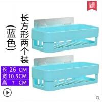 强力吸盘浴室置物架吸壁式卫生间厨房塑料收纳架筐免打孔壁挂篮大