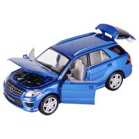 儿童玩具小汽车带车标彩珀奔驰ML声光合金车模型 合金回力