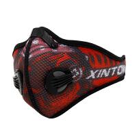 户外骑行口罩装备运动跑步口罩防风防尘防雾霾活性炭面罩 网纱面罩