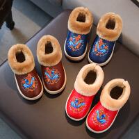 女童短靴儿童雪地靴男童冬季新款靴子小童保暖中大童棉鞋