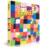 顺丰发货 美国教育协会推荐百本必读书单 Elmer花格子大象艾玛 吴敏兰绘本123 英文原版大开纸板书