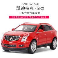 凯迪拉克SRX1:32合金小汽车模型声光回力可开门儿童礼品玩具