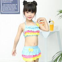 泳衣女童可爱分体裙式比基尼三角裤沙滩泡温泉宝宝中大童泳装