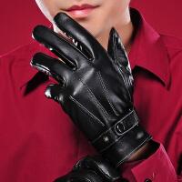 真皮手套男冬加厚保暖 手套男冬骑车 韩版 触屏羊皮手套
