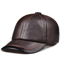 女士帽子时尚休闲男士头层牛皮帽棒球帽户外