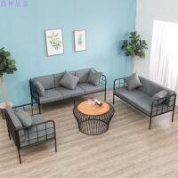 铁艺布艺沙发简约现代工业风单双三人椅作室服装店咖啡厅休闲卡座 其他