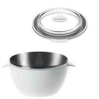 儿童餐具饭碗汤碗加盖不锈钢婴儿辅食碗g9q