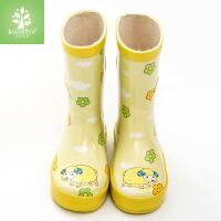 �n��KK��和�雨鞋女雨靴男童小孩夏中筒女童�W生����水鞋