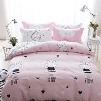 床上纯棉四件套卡通全棉床单被罩/床笠被套被单1.5/1.8m米床