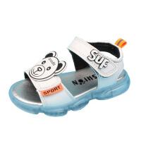 宝宝凉鞋男1-2-3岁软底小儿童凉鞋学步鞋男女孩夏露趾沙滩鞋闪灯