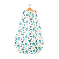 纱布睡袋婴儿春款背心宝宝儿童睡袋无袖四季空调房防踢被. 彩色