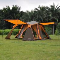 两房两室一厅多人双层4-5人户外野营旅游用品 铝杆全自动帐篷SN7049