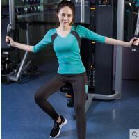 户外运动新款健身房运动服套装女瑜伽晨跑服装愈加服瑜珈服