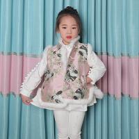 儿童唐装女马甲中国风秋冬装女童汉服童装公主女孩过年喜庆宝宝装