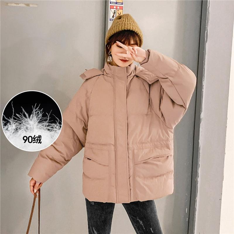 七格格羽绒服女中长款2019新款时尚冬季加厚小个子宽松工装外套潮