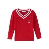 儿童装女童毛衣秋款洋气棉线衫学生男童长袖针织衫