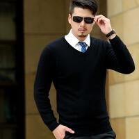 韩版男士羊绒衫薄款毛衣 男装16冬装新品 休闲男士V领打底衫潮