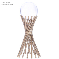 20180624115043807欧式简约家居客厅酒柜装饰品奢华创意金属铁艺工艺品水晶球摆件