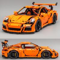 保时捷911GT3 RS跑车模型科技赛车拼装积木玩具男孩