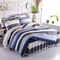 床裙式床罩四件套床上被套200x230cm床套带款公主风