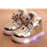 1-2-3-4-5-6岁小女孩棉鞋短靴 一周岁半女宝宝公主皮鞋女童学步鞋