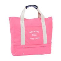 旅行收纳包大容量可折叠帆布包多功能差旅衣物收纳袋拉杆手提收纳女士妈咪包