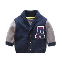 婴儿春秋款衣服6个月1岁男童女宝宝上衣秋季冬装长袖毛衣开衫外套